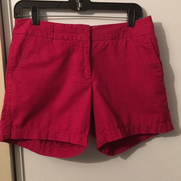 J. Crew Pants - J.Crew red chino shorts